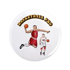 "Sports - Basketball Pro 3.5"" Button"