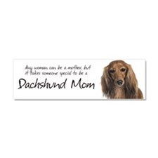 Dachshund Mom Car Magnet 10 x 3