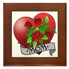 Mom Tattoo Mothers Day Framed Tile