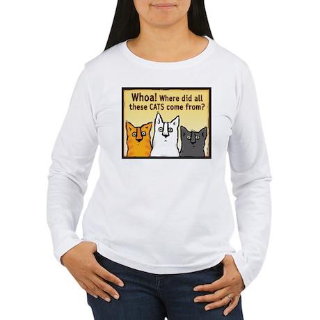 """Whoa!"" Women's Long Sleeve T-Shirt"