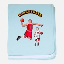 Sports - Basketball baby blanket