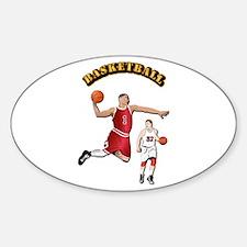 Sports - Basketball Sticker (Oval)