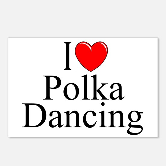 """I Love (Heart) Polka Dancing"" Postcards (Package"