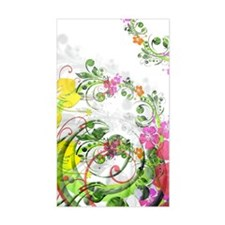 Floral Art and Design Decal