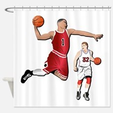 Sports - Basketball - No Txt Shower Curtain