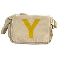 Letter Y Yellow Messenger Bag