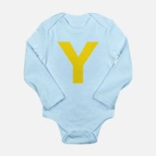 Letter Y Yellow Body Suit