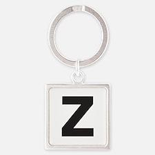 Letter Z Black Keychains