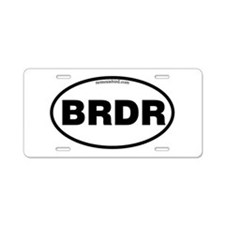 Cute Birders Aluminum License Plate