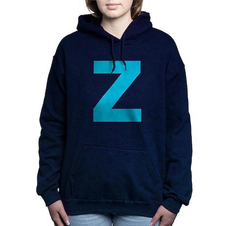 Letter Z Blue Hooded Sweatshirt