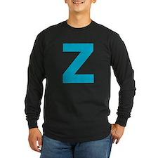 Letter Z Blue Long Sleeve T-Shirt