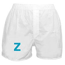 Letter Z Blue Boxer Shorts
