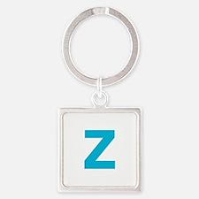 Letter Z Blue Keychains