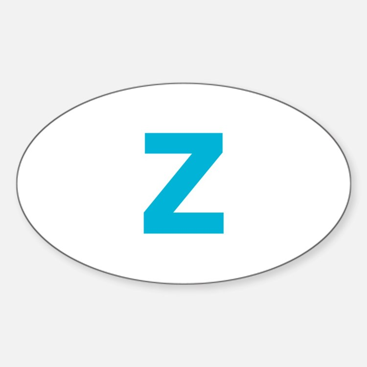 Letter Z Blue Decal