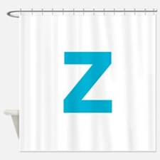 Letter Z Blue Shower Curtain