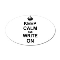 Keep Calm and Write on Wall Sticker