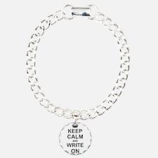 Keep Calm and Write on Bracelet