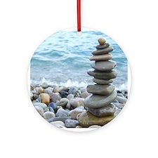 Zen Stone Tower Ornament (Round)