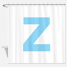 Letter Z Light Blue Shower Curtain