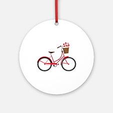 Bicycle Bike Flower Basket Sweet Ride Ornament (Ro