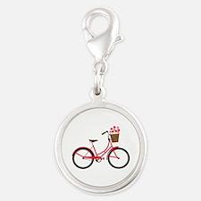 Bicycle Bike Flower Basket Sweet Ride Charms