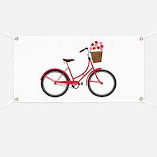Bicycle Bike Flower Basket Sweet Ride Banner