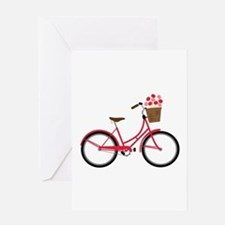 Bicycle Bike Flower Basket Sweet Ride Greeting Car