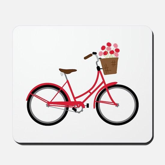 Bicycle Bike Flower Basket Sweet Ride Mousepad