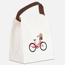 Bicycle Bike Flower Basket Sweet Ride Canvas Lunch