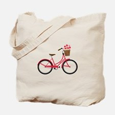 Bicycle Bike Flower Basket Sweet Ride Tote Bag