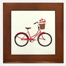 Bicycle Bike Flower Basket Sweet Ride Framed Tile
