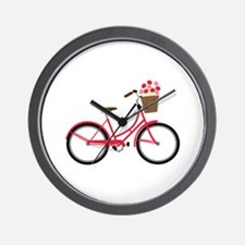 Bicycle Bike Flower Basket Sweet Ride Wall Clock