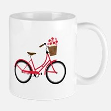 Bicycle Bike Flower Basket Sweet Ride Mugs