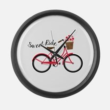 Sweet Ride Large Wall Clock