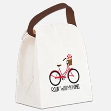 Rollin With My Homes Canvas Lunch Bag