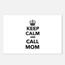Keep calm and call Mom Postcards (Package of 8)