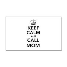Keep calm and call Mom Car Magnet 20 x 12