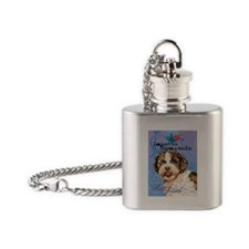 Lagotto Romagnolo Flask Necklace