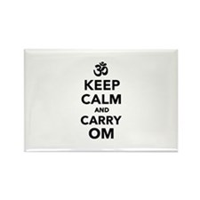Keep calm and carry om Rectangle Magnet (100 pack)