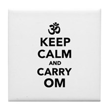 Keep calm and carry om Tile Coaster