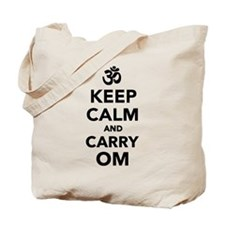Keep calm and carry om Tote Bag
