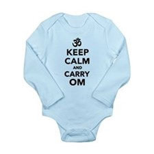 Keep calm and carry om Long Sleeve Infant Bodysuit