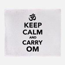Keep calm and carry om Throw Blanket