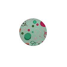 Cute Sewing Themed Print Mini Button