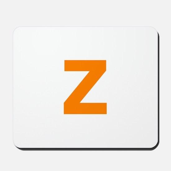 Letter Z Orange Mousepad