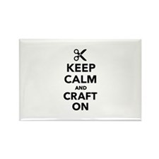Keep calm and craft on Rectangle Magnet
