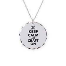 Keep calm and craft on Necklace