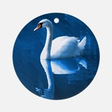 The Swan Ornament (Round)