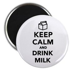 """Keep calm and drink Milk 2.25"""" Magnet (100 pack)"""