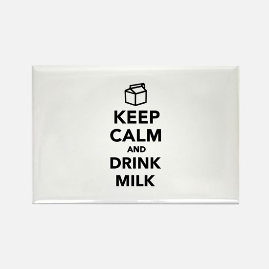 Keep calm and drink Milk Rectangle Magnet